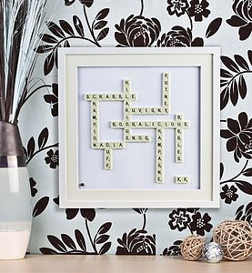 Personalised Scrabble® Art - home accessories