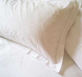 Hand Embroidered King Sized Duvet Cover