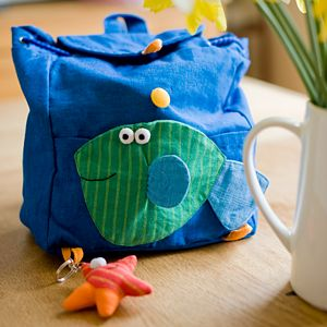 Fair Trade Fish Rucksack - children's room