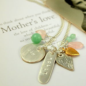 Personalised Molly Charm Necklace - necklaces & pendants