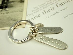 Personalised Daddy Key Ring
