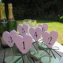 Mutiple heart table numbers