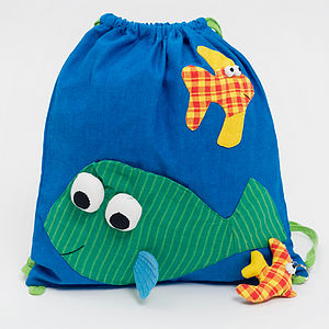 Fair Trade Fish Gym Bag - storage bags