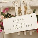 Sshhh - Daisy Is Sleeping Sign