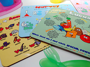 Personalised Learning Placemats - kitchen