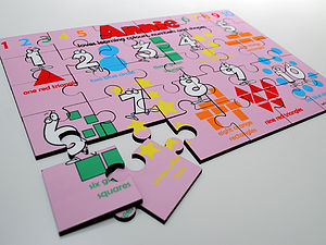 Personalised 'Learn Colours, Numbers and Shapes' Puzzle - educational toys