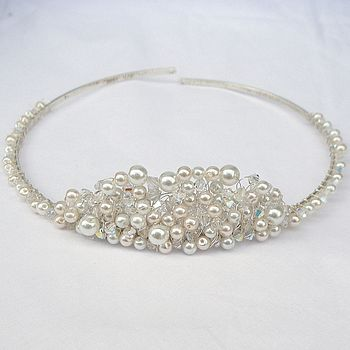 Vintage-Inspired Pearl and Crystal Tiara