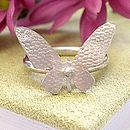 Single Butterfly Ring