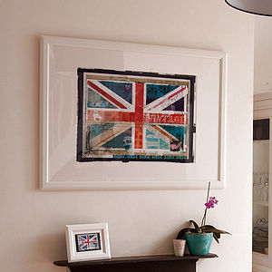 Union Jack Montage Print - canvas prints & art