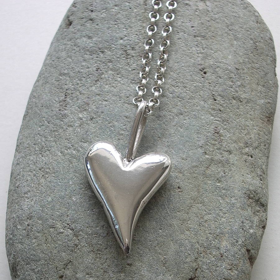 Chunky big solid silver heart pendant by cathy newell price chunky big solid silver heart pendant aloadofball Gallery