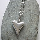 Chunky Big Solid Silver Heart Pendant
