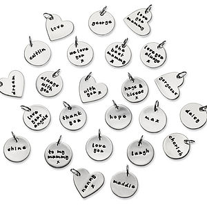 In Your Words Text Charms - charm jewellery