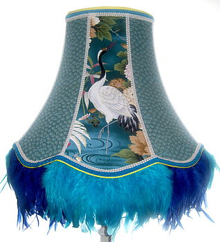 Bespoke Standard Lampshade: Turquoise Feather