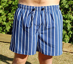 Men's Striped Swim Shorts - men's