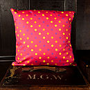 Bright Pink Dotty Cushion
