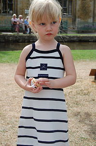 Girl's Striped Dress - clothing