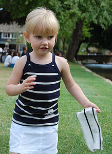 Girl's Cotton Striped Vest - clothing