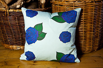 Blue Roses Cushion