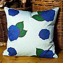 Blue Roses Cushion