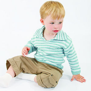 Boy's Hand Knitted Organic Cotton Jumper