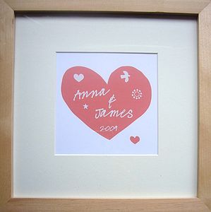 Personalised Love Celebration Print