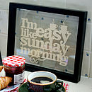 'I'm Easy Like Sunday Morning' in the kitchen