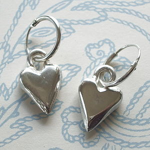 Solid Silver Heart Earrings