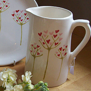 Personalised Hand Painted Heart Tree Jug - dining room