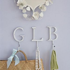 Vintage Style Alphabet Letter Hook - children's room accessories
