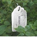 Herb label oregano