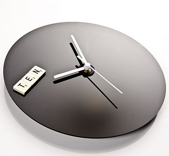 Word Tile Black Clock