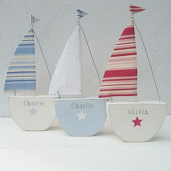 Personalised Sailing Boat
