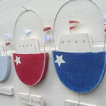 Personalised Hanging Fishing Boat