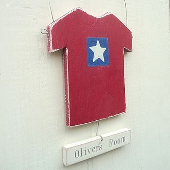 Personalised Hanging T-Shirt Sign