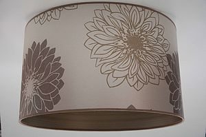 Large Brown Flower Shade - lighting