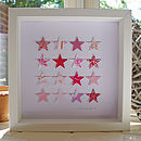 Paper Stars Picture - Pinks