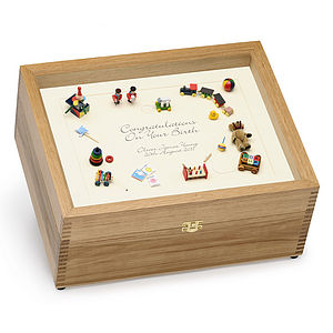 Birth Memory Box (Black on cream)