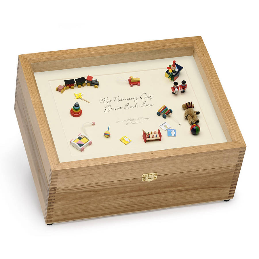Baby Naming Day Guest Book Box