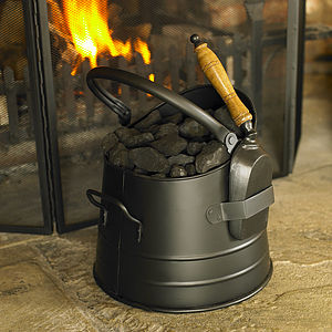 Black Coal Bucket With Shovel - sale by category