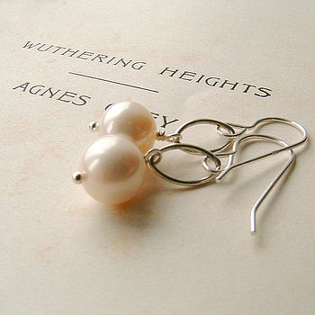 Ellipse Pearl Earrings by Rachel Lucie