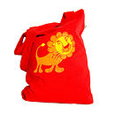 'To The Zoo' Lion Cotton Tote Bag