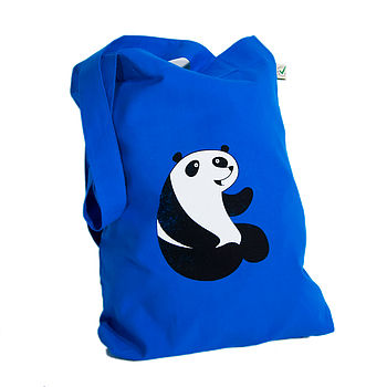 'To The Zoo' Panda Cotton Tote Bag