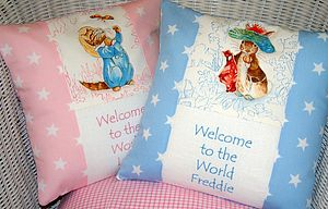 Beatrix Potter Welcome To The World Cushion - decorative accessories