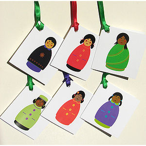 Girls gift tags