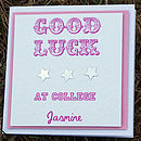 'Good Luck At College' Card