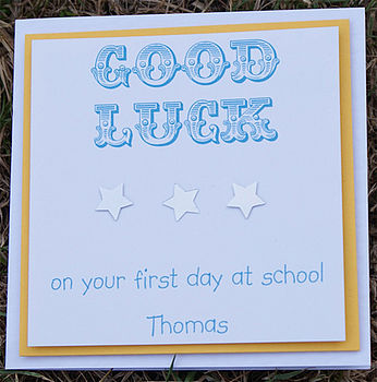 Good Luck 'First Day At School' Card