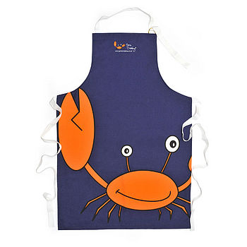 Big Crab Navy Apron
