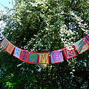 Personalised Paper Bunting- 'Just Married' custom order