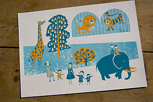 To The Zoo Limited Edition Screen Print - baby's room