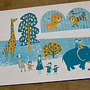 To The Zoo Limited Edition Screen Print